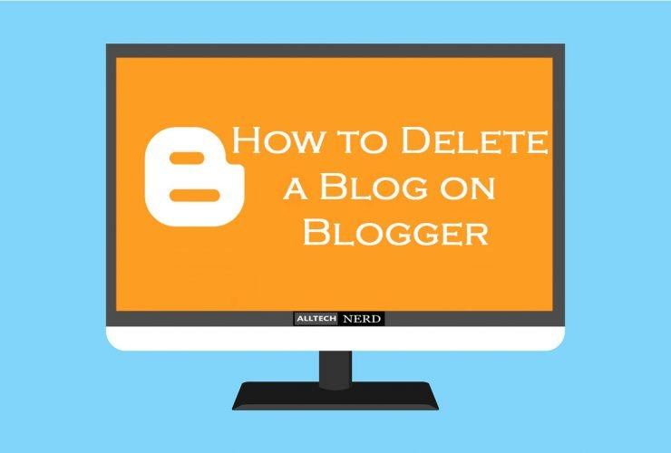 how to delete a blogger account